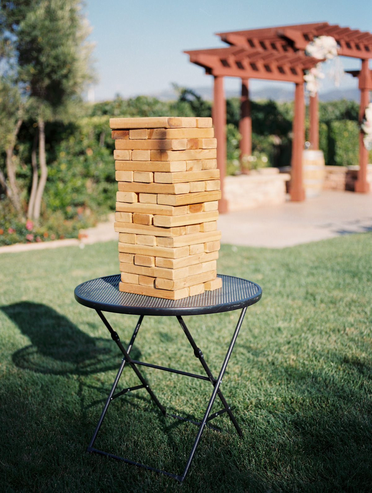 Lawn games during cocktail hour |Harrison & Jocelyne's gorgeous Temecula wedding day at Wiens Family Cellars captured by Temecula wedding photographers Betsy & John