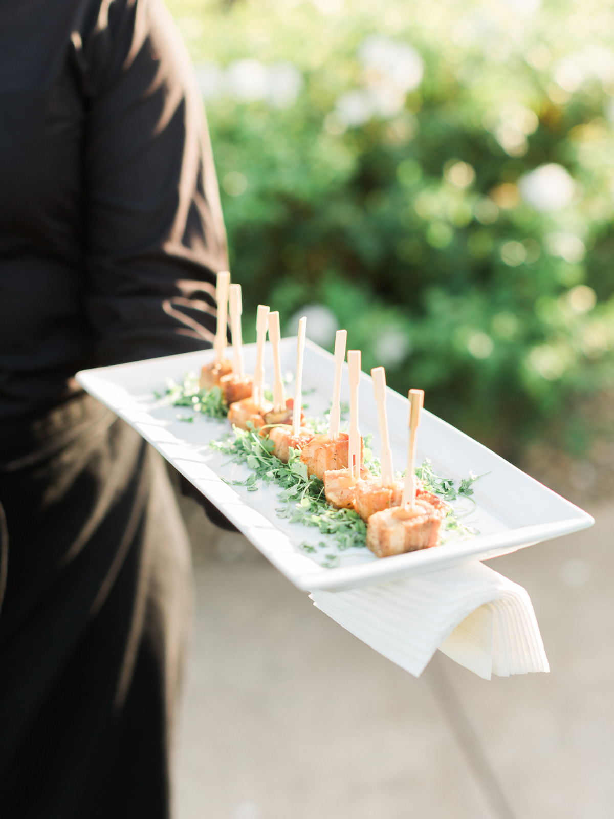 Beautiful appetizers during cocktail hour at Weins Family Cellars