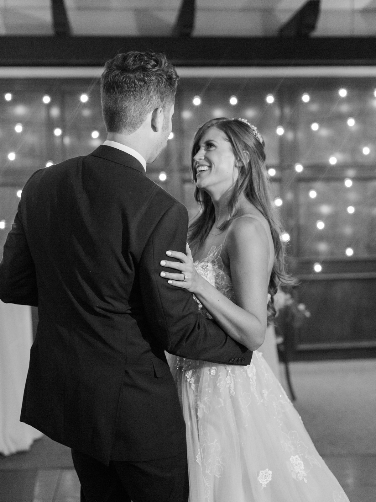 Bride & Groom's first dance Harrison & Jocelyne's gorgeous Temecula wedding day at Wiens Family Cellars captured by Temecula wedding photographers Betsy & John