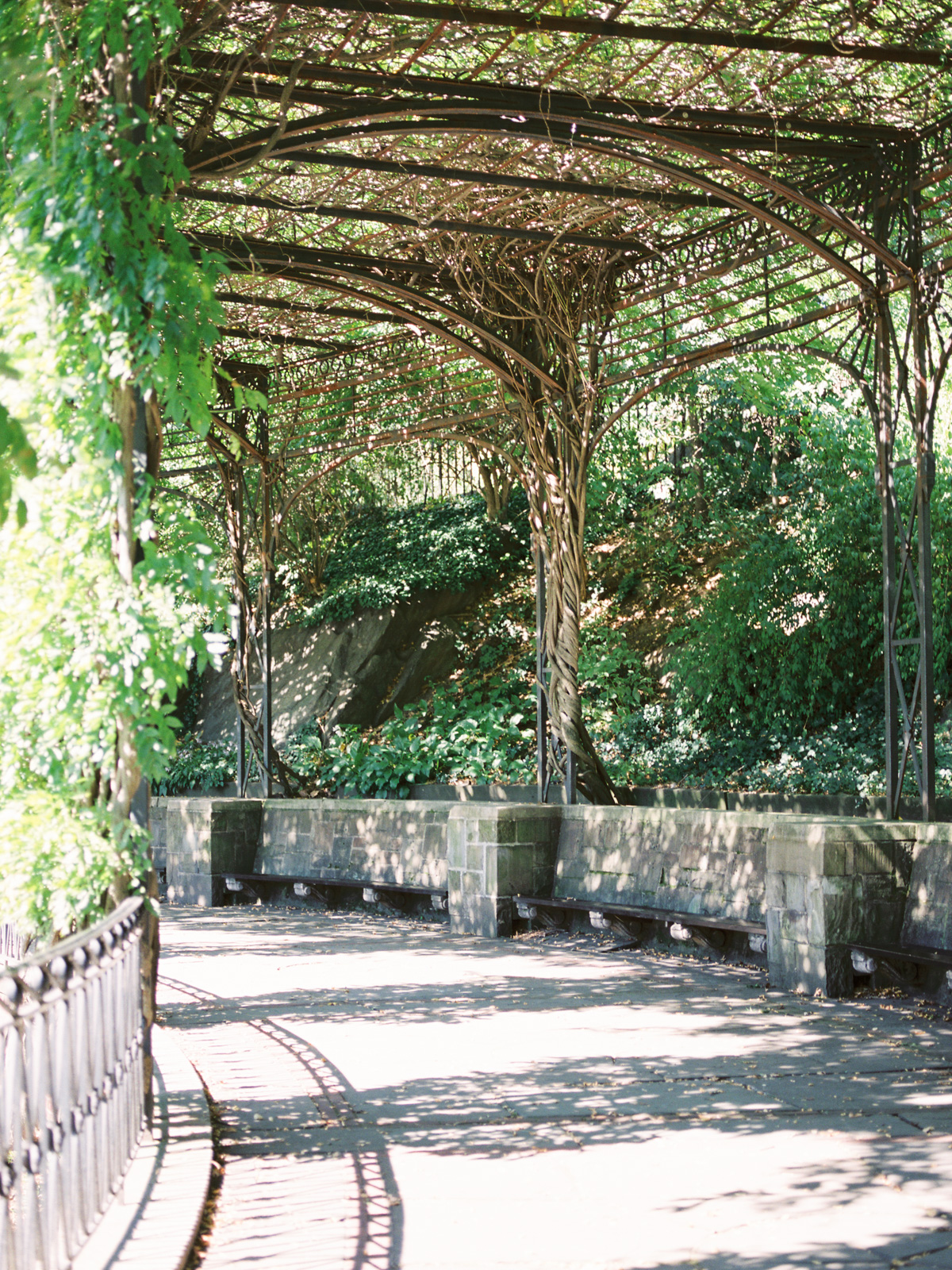 Gorgeous Archways at the Central Park Conservatory Gardens in NYC