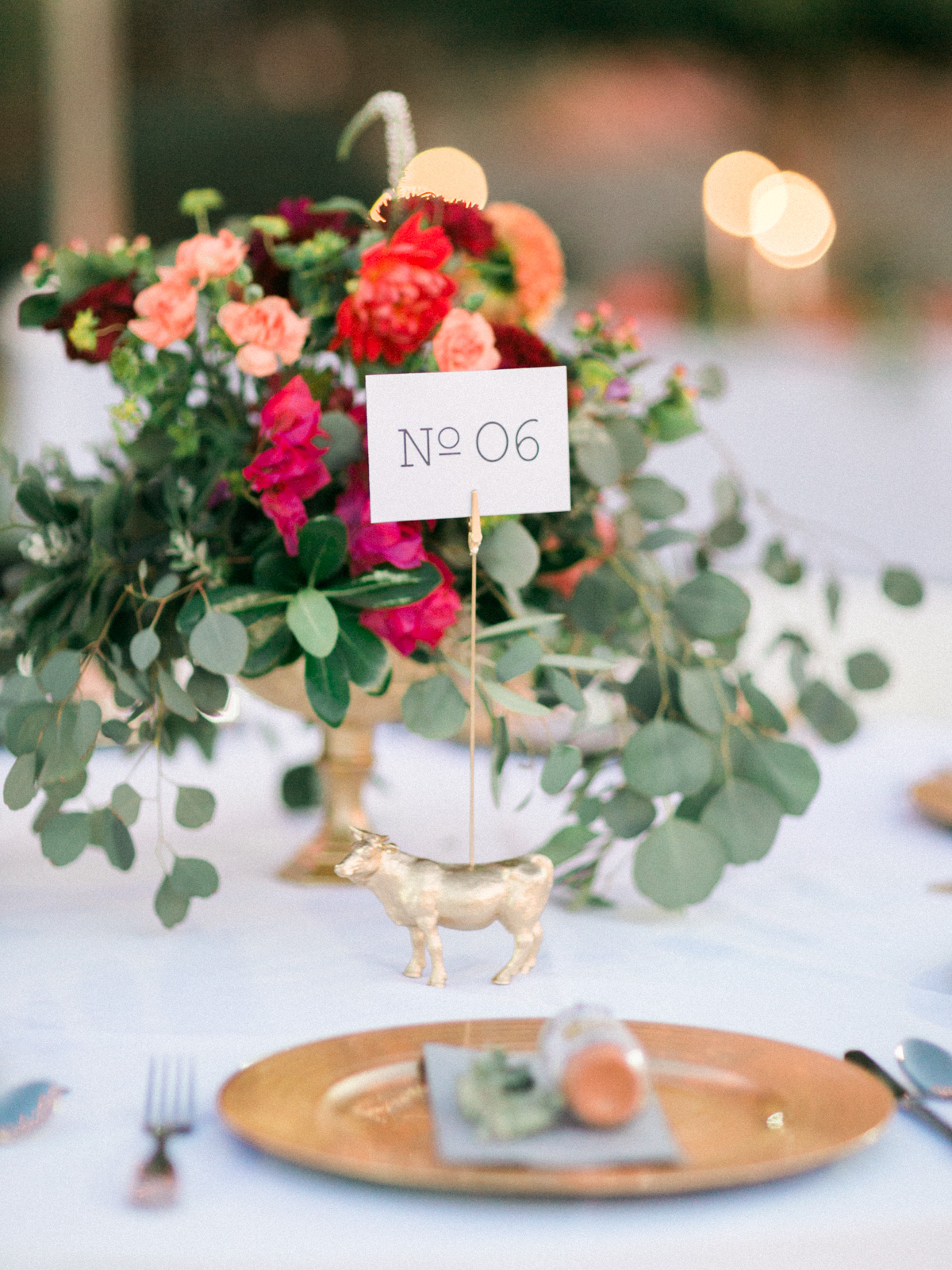 Gold animal table number holders