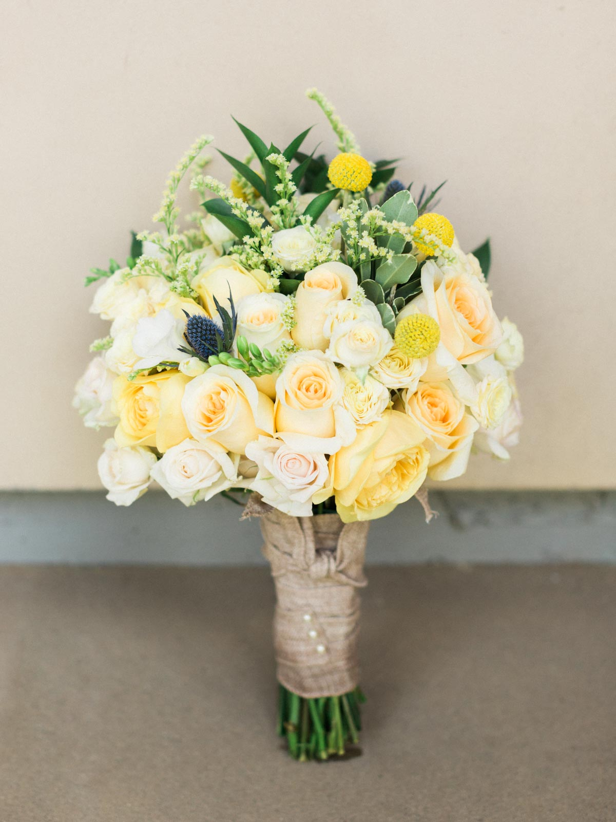 Bright and colorful yellow bouquet by Mary's Flowers