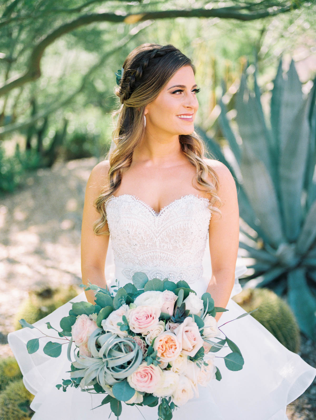 Desert bride captured by Tucson Wedding Photographers Betsy & John