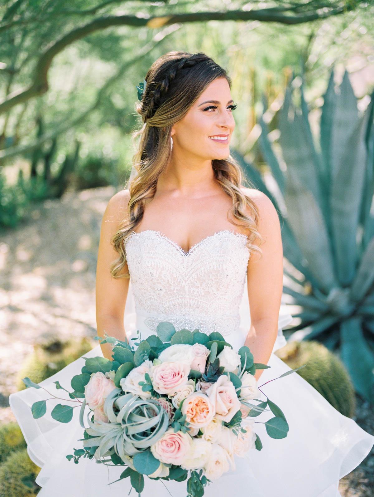 Desert bride captured by Tucson Wedding Photographers Betsy & John