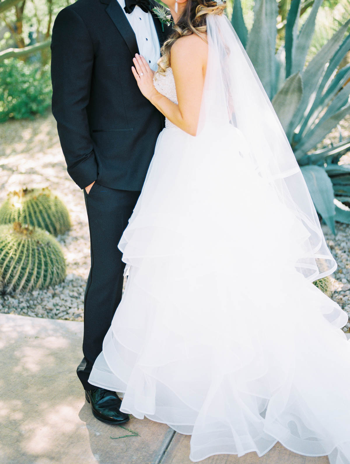 Bride and groom captured by Tucson Wedding Photographers Betsy & John