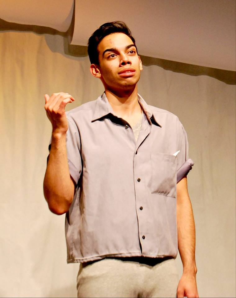 The monologue of the character focused around loss as seen in the folding of a paper crane.
