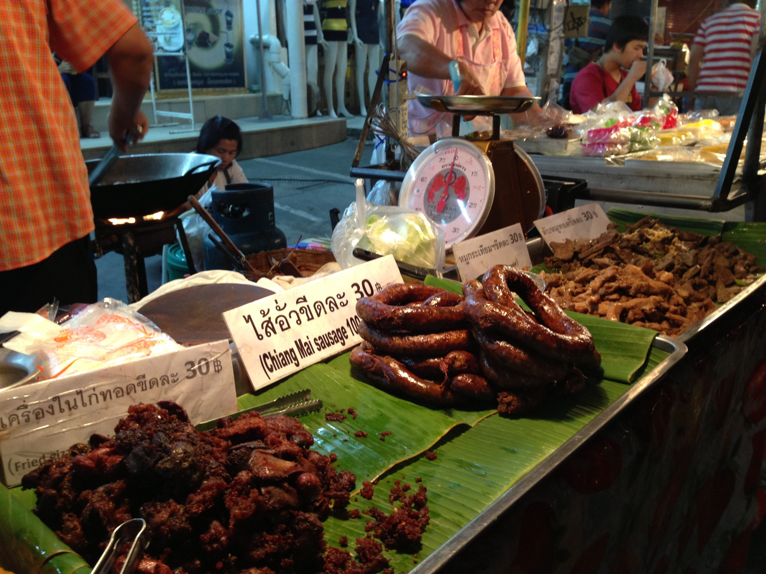 Street meat in Chiang Mai
