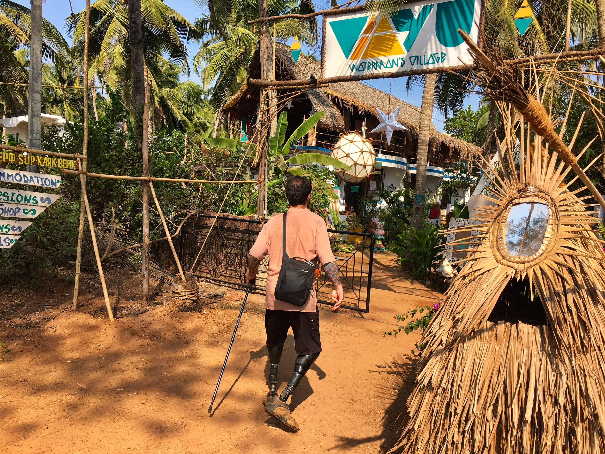 Vaayu Watermans Village is a super chill place to get your water sports on, check out local artists, and have a snack.
