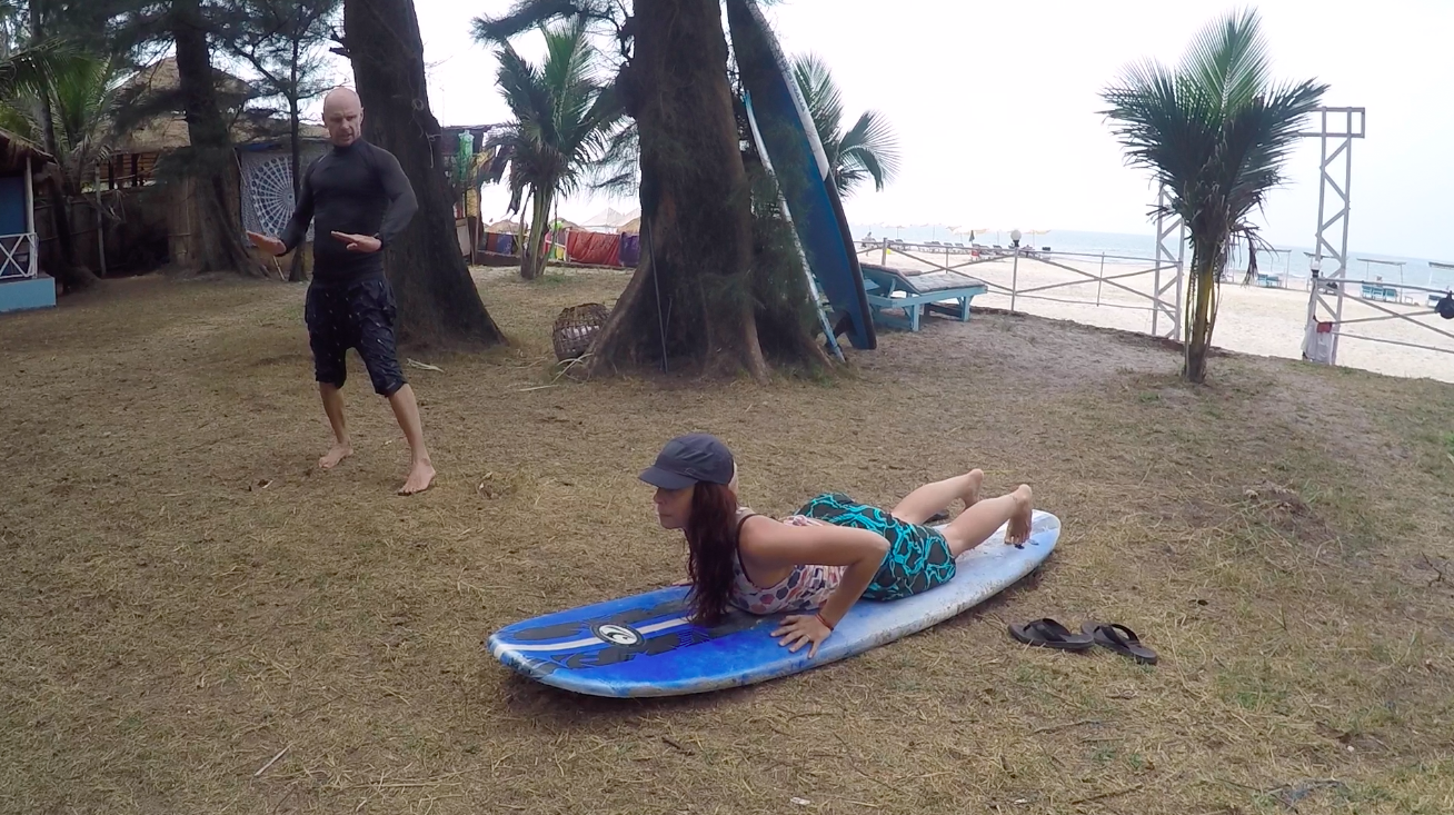 Paval, in his third season teaching surfing in Goa, was extremely patient with me. It is clear, I am not a surfer.