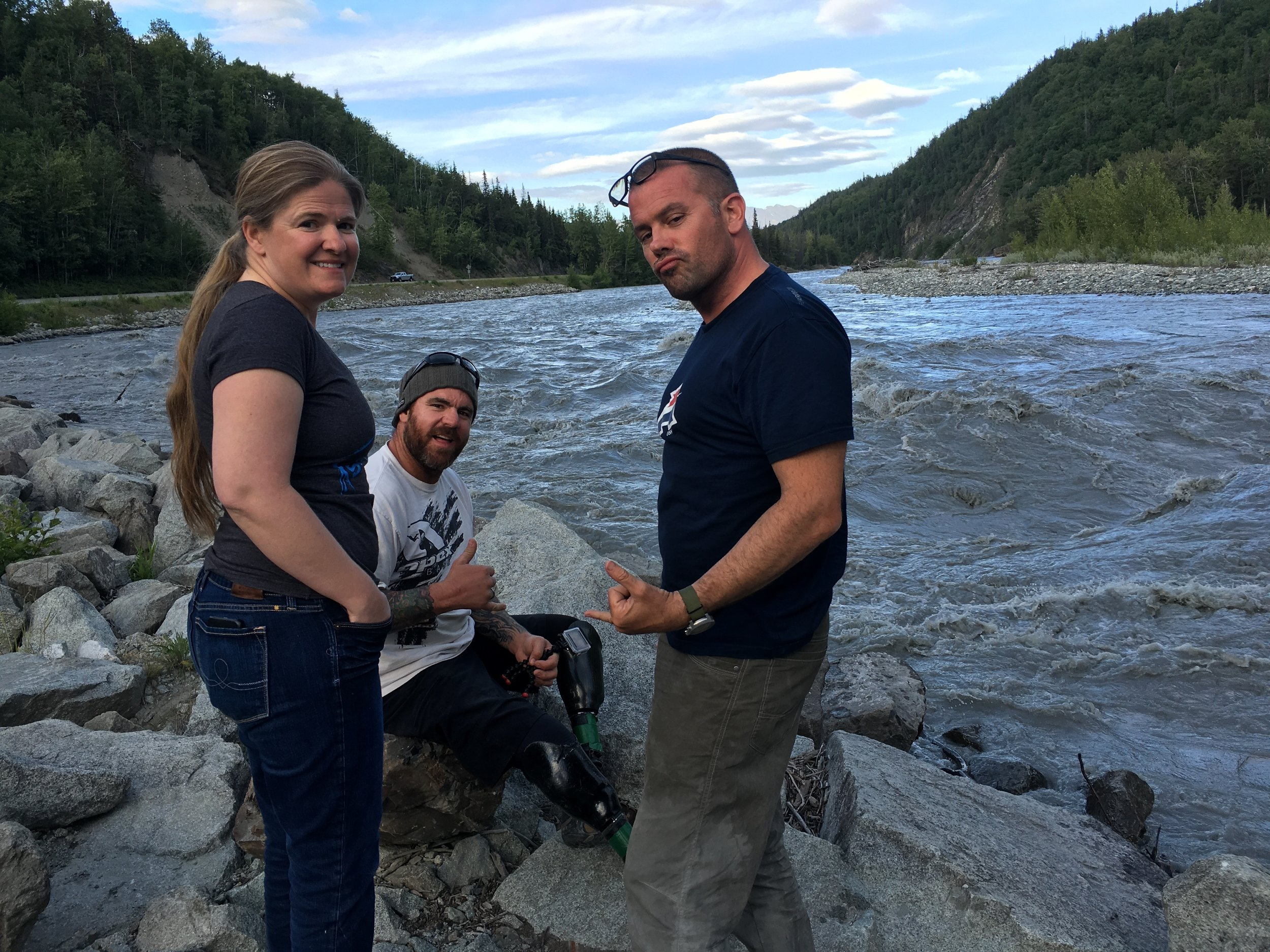 Another amazing stop along the road from Palmer to Matanuska Glacier. The river was moving fast!
