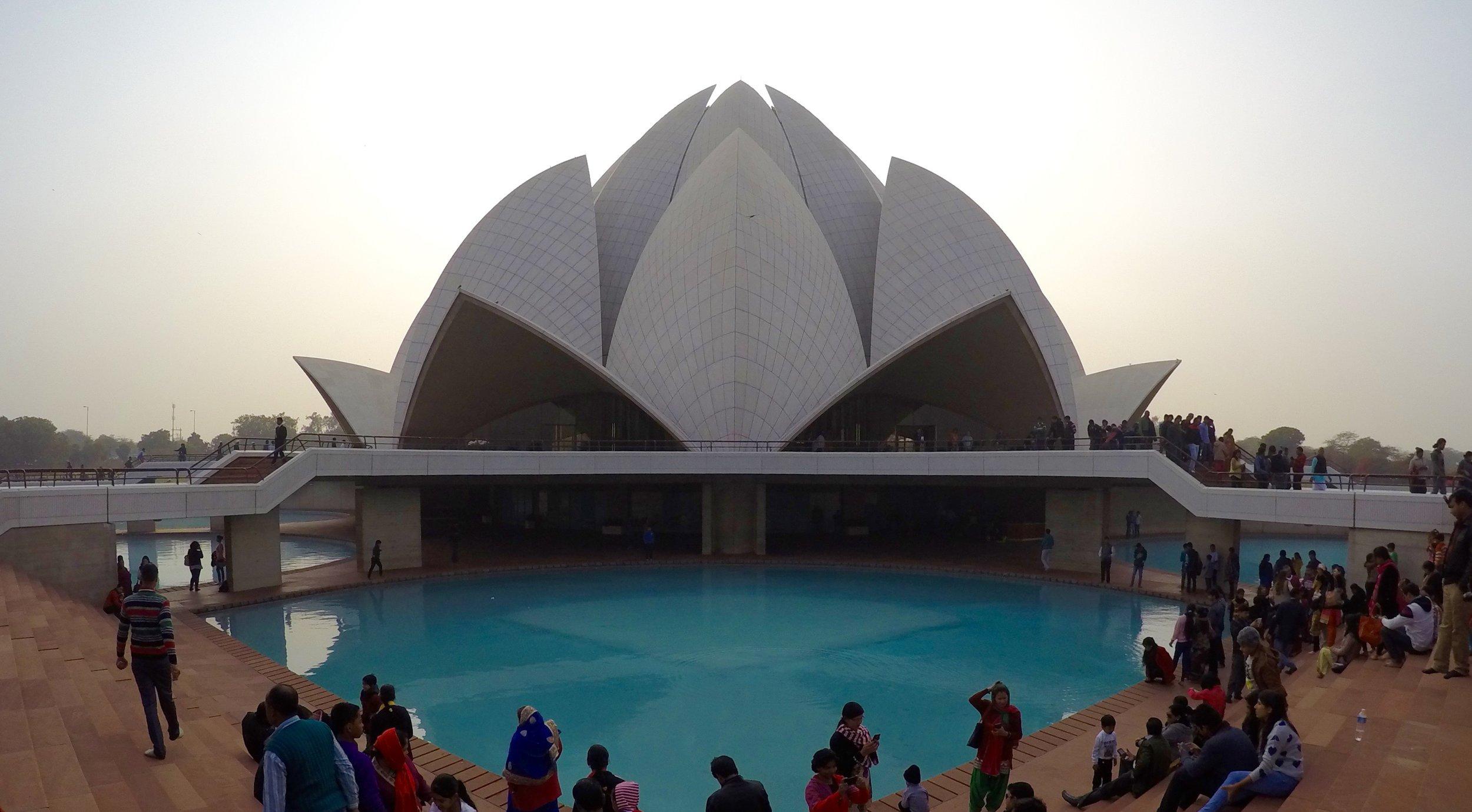 bahai temple delhi india