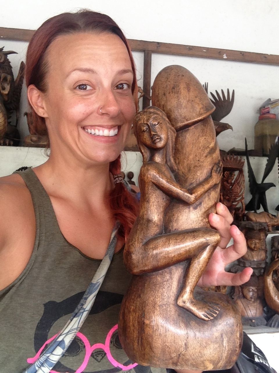 Don't worry, I did not buy this. But couldn't resist the photo op. Ah, Bali.