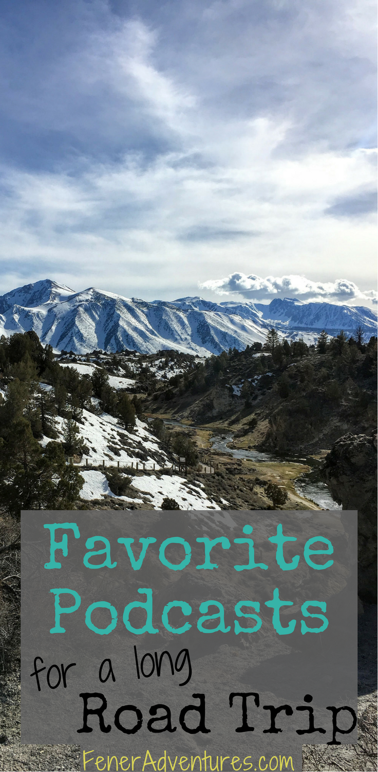 Great Podcasts for a Long Road Trip!  ----> Click through to read more.   ...   www.FenerAdventures.com   ... vacation, travel tips, inspiration, long flight, budget travel