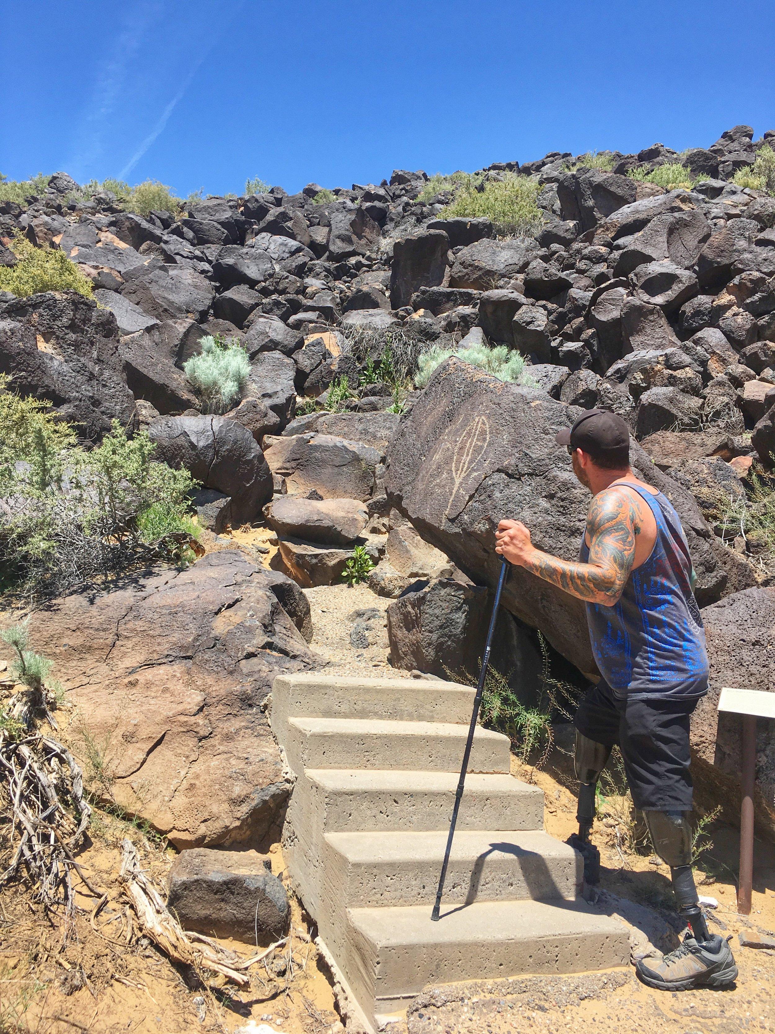 NM Petroglyph hike.jpeg