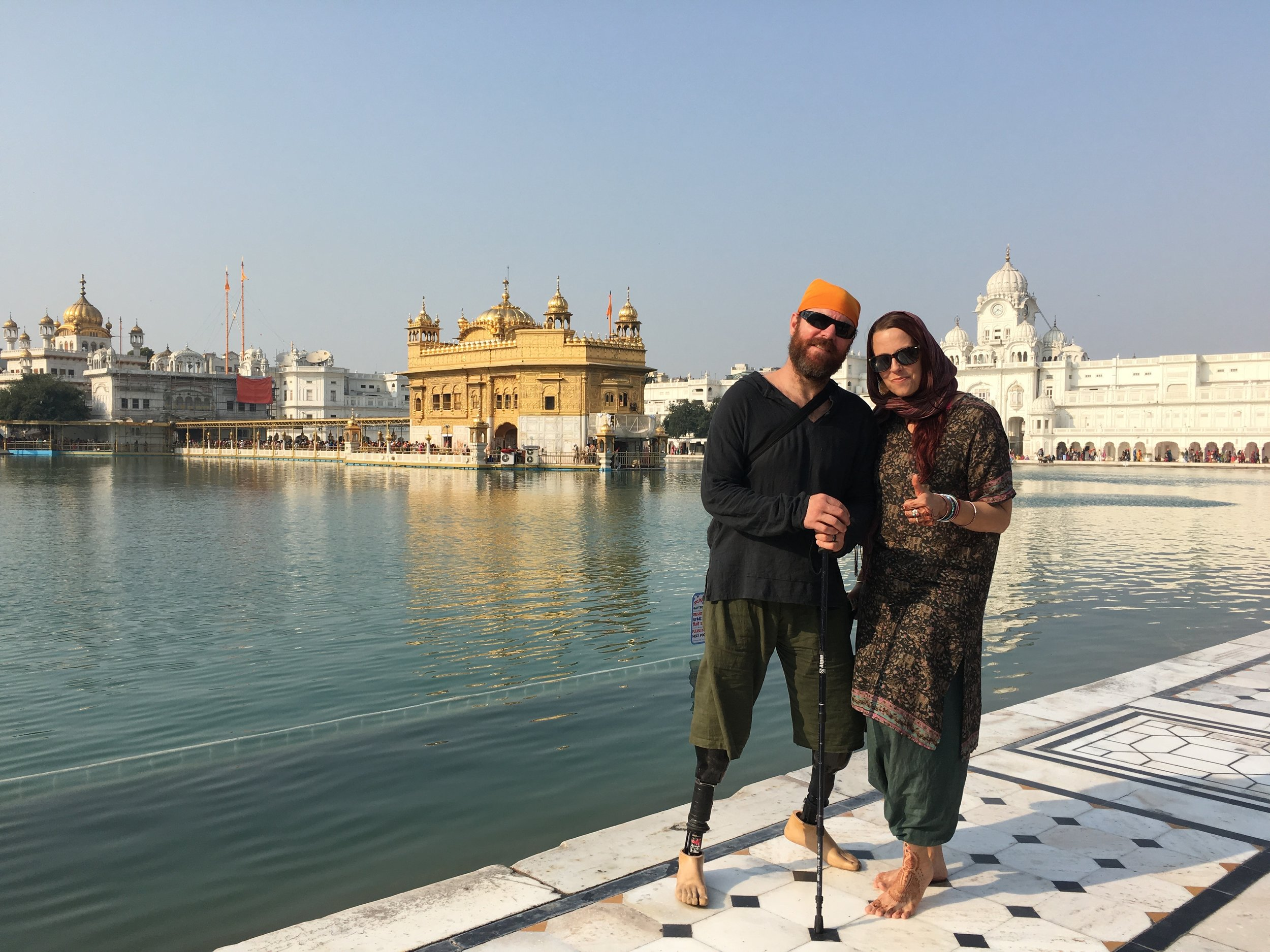 Sensory overload at the Golden Temple. Music, people, smells, good vibes, and good tears.