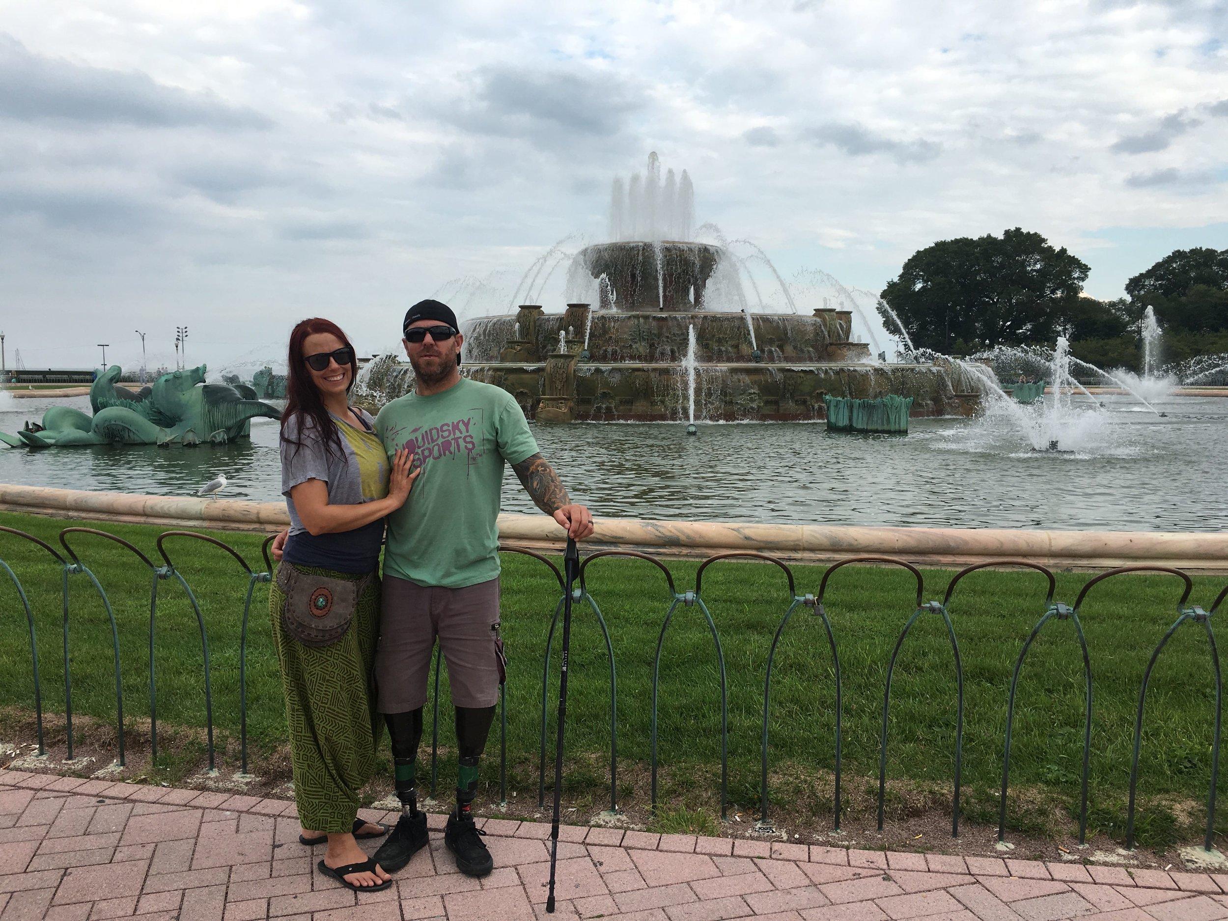 Chicago fountain Fener Adventures