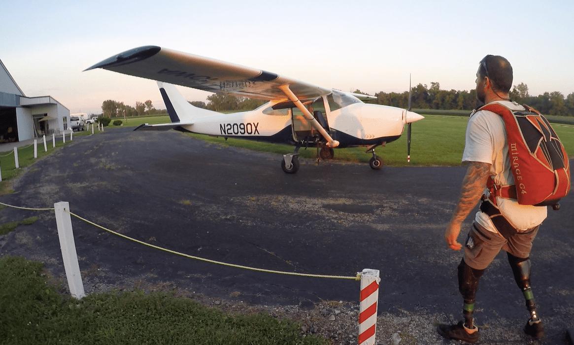 Nick skydiving amputee Fener Adventures