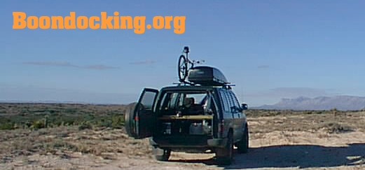 Awesome database of free places to camp off-grid overnight. Also known as boondocking. -