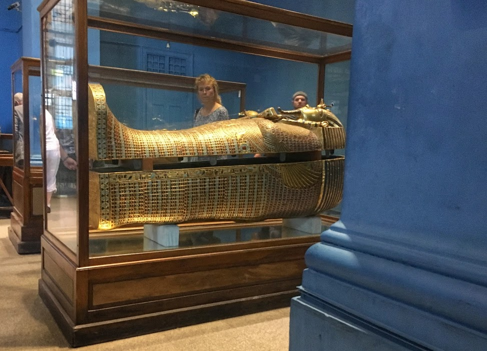 King Tut's sarcophagus.