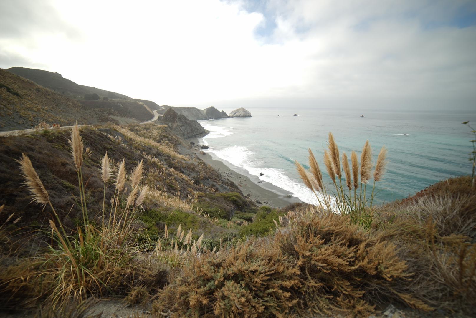 Behold, the California coast...