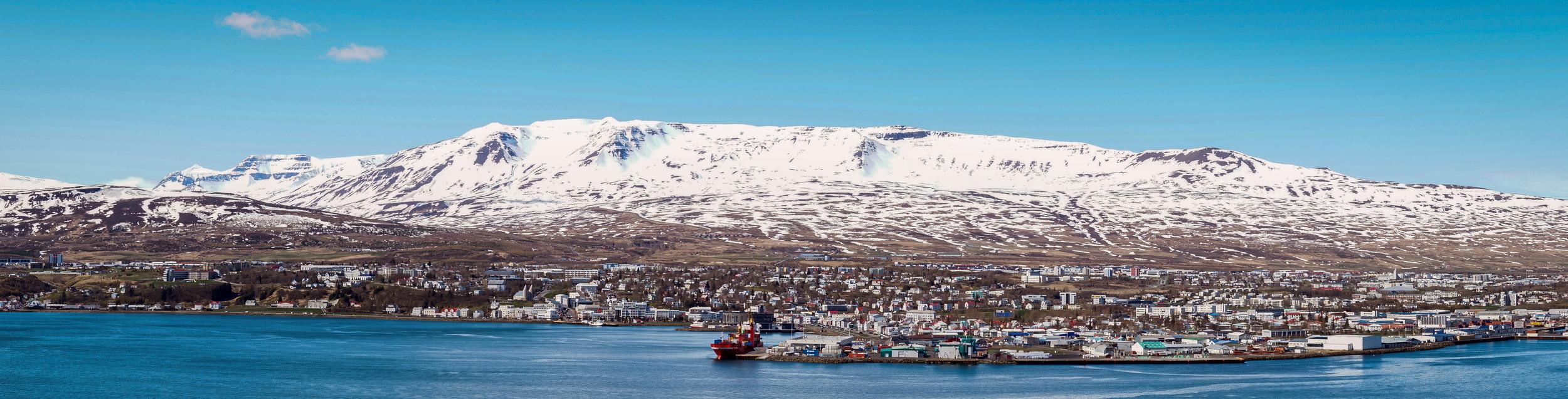 The wonderful northern town of Akureyri.