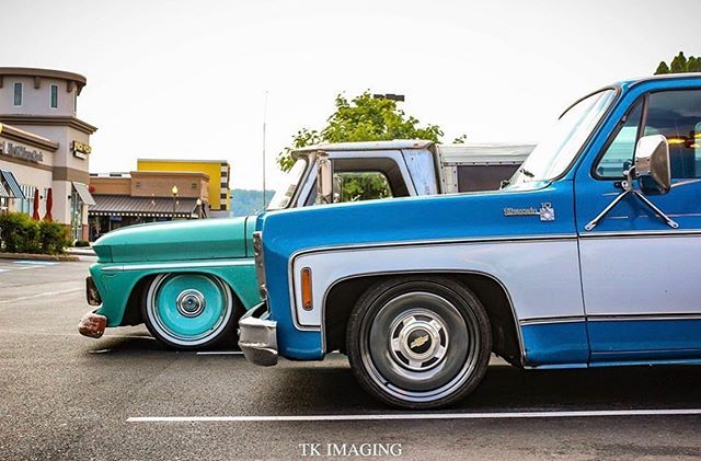 Love @black_label_coatings and @cap10berry 's trucks captured by @tk_imaging 🤘 both rolling on our #DTown #detroitsteelwheels, give our team a shout at (810)333-6100 to get more info on these set ups!  #mobsteel #chevy #WheelWednesday #AmericanMade #LongLiveDetroit