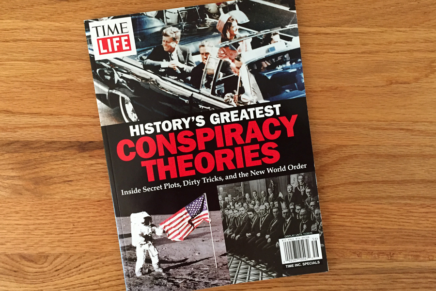 Cover of 'History's Greatest Conspiracy Theories' for Time-Life.