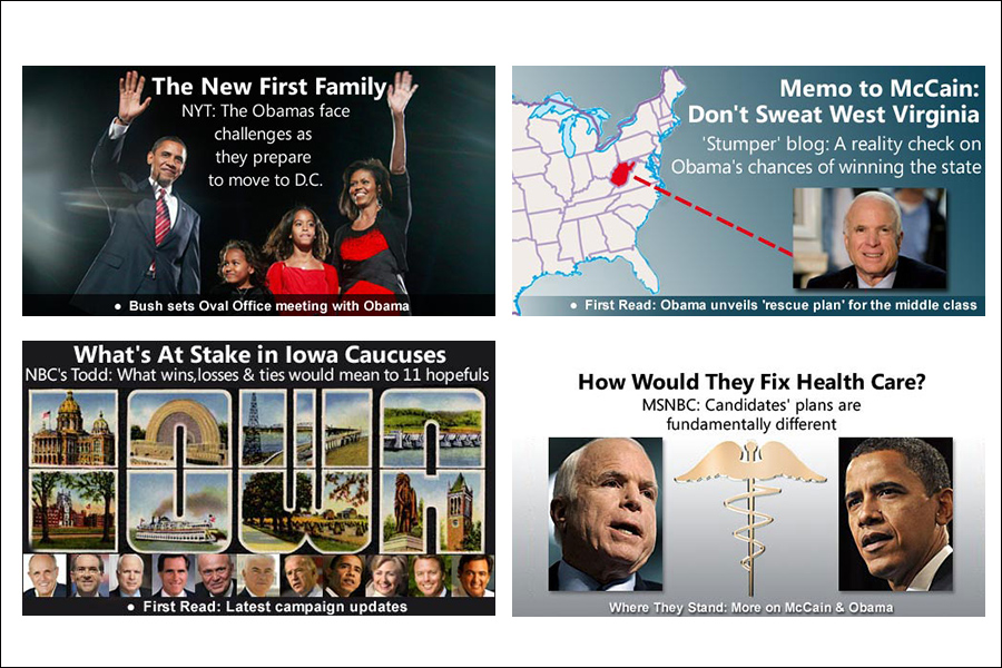 Image panes created during my work on MSN Elections. I sourced the imagery and created the panes.