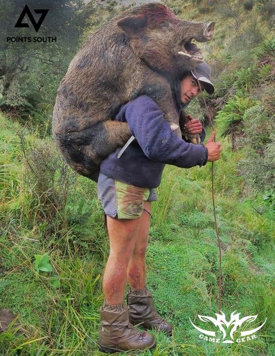 Dan Keys with his turn at carrying 270 lb