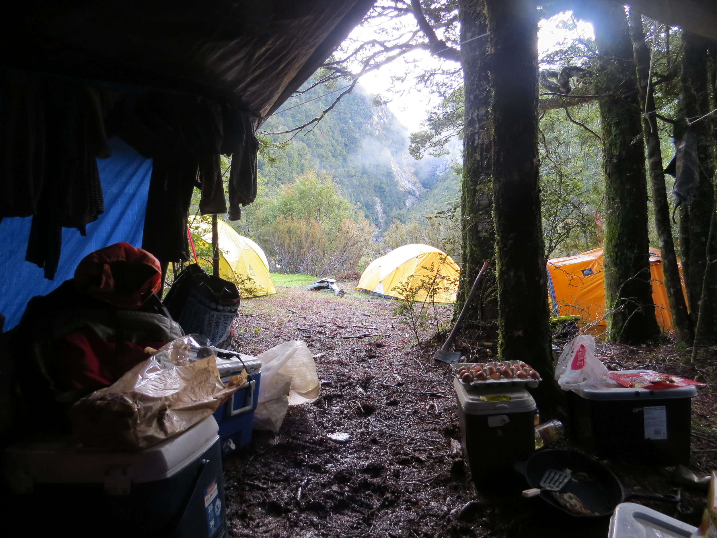 Base camp - Photo by Ryan Carr