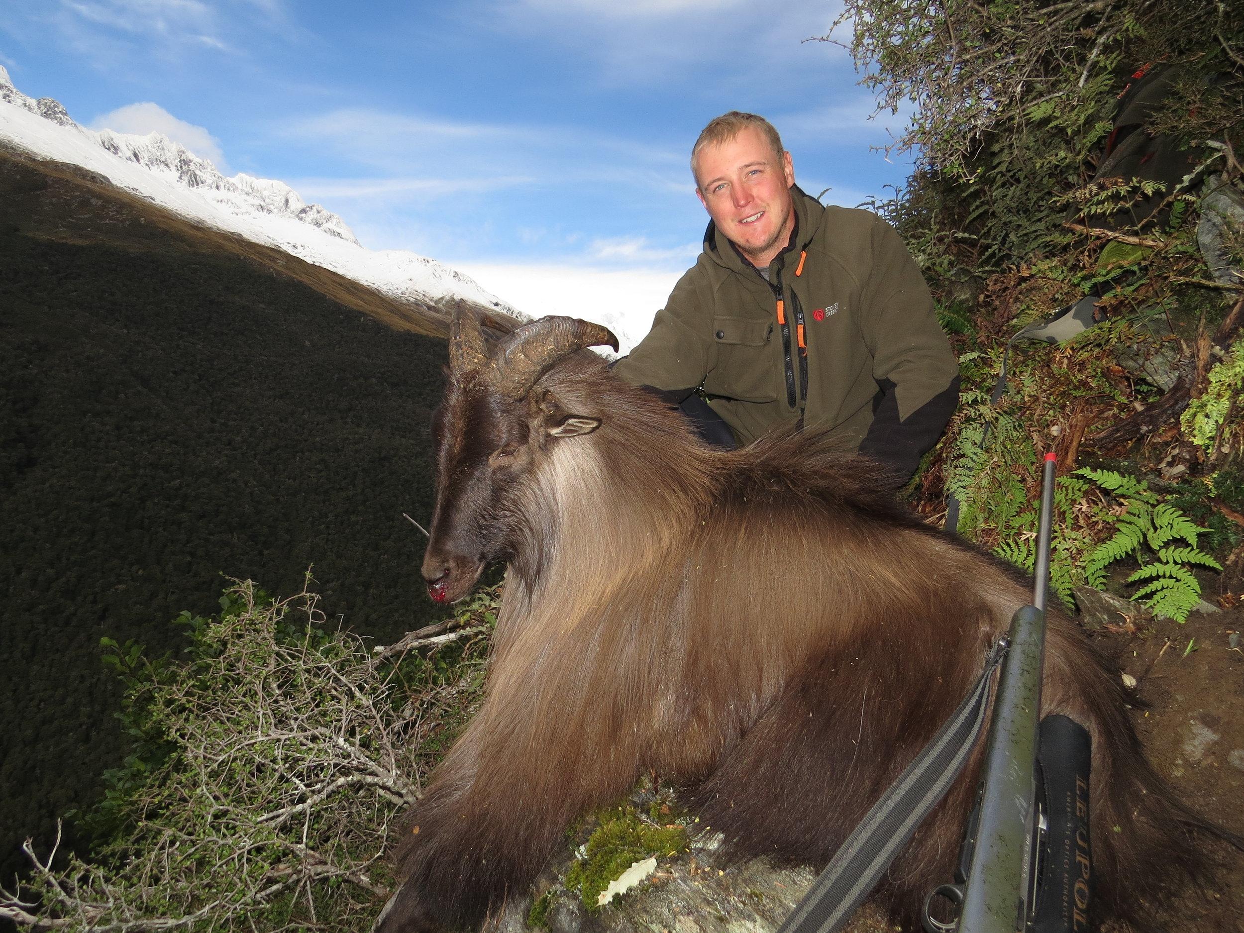 Luke Potts with his 13 1/4 inch scrub bull - Photo by Ryan Carr