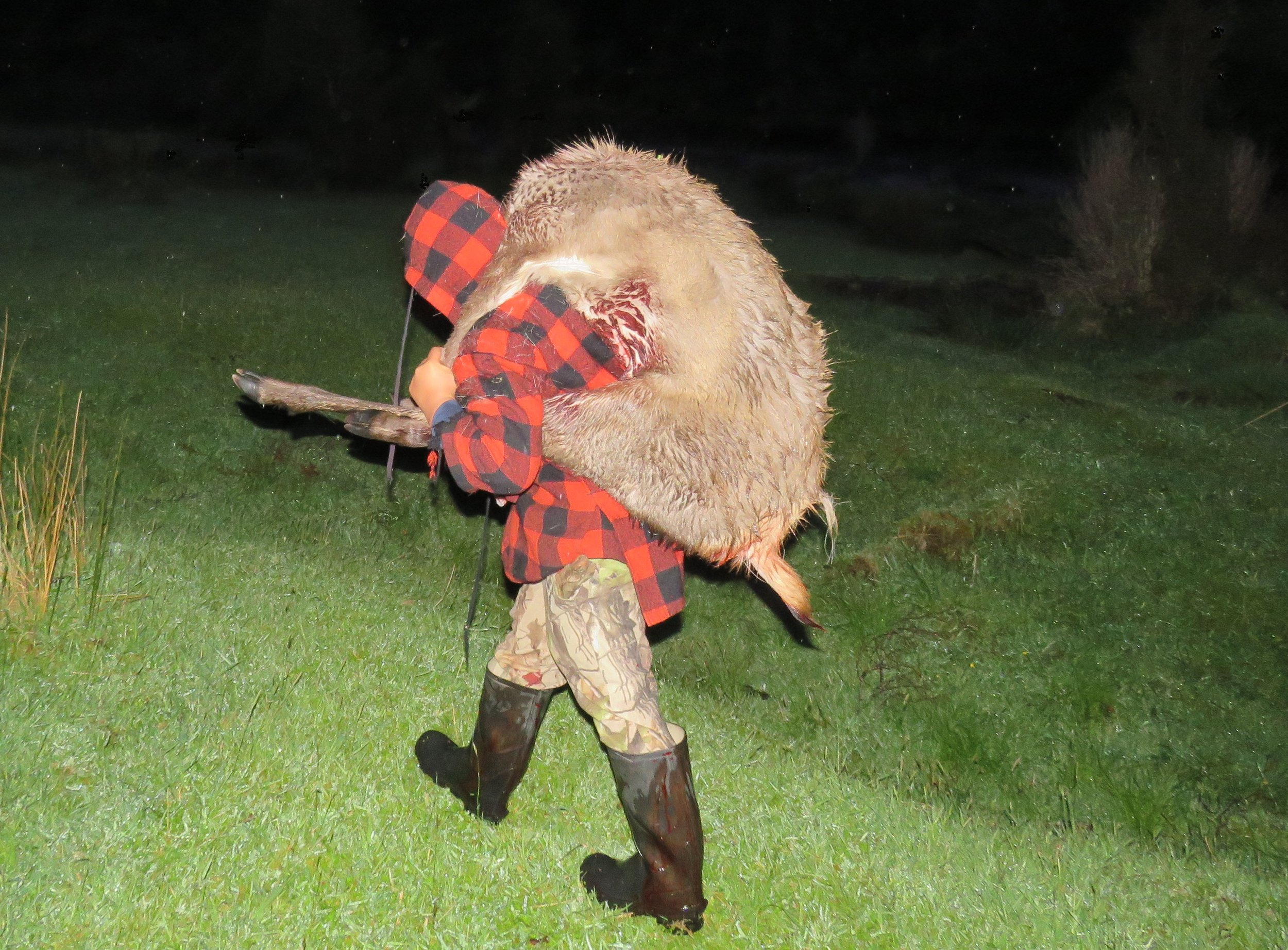 George put in a mammoth effort to help get the deer back to camp.