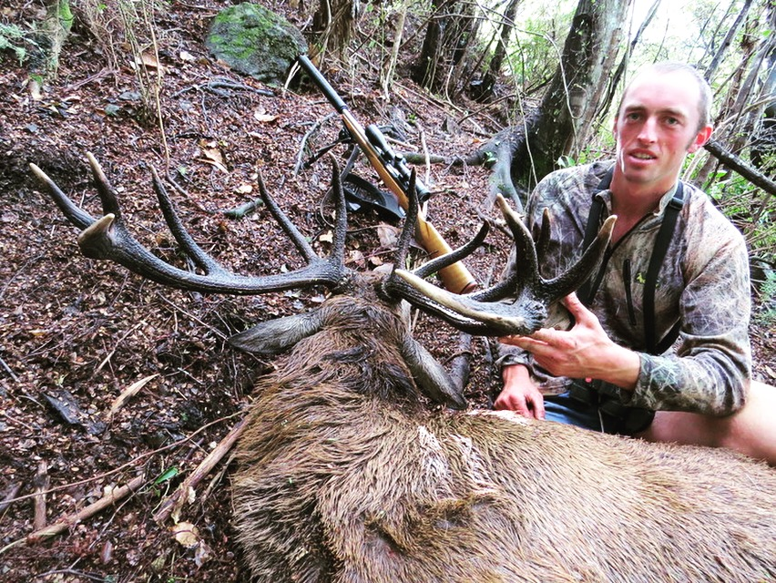 Ryan Carr with an interesting angle on a great stag. Image_ Richie Williams & Dan Keys