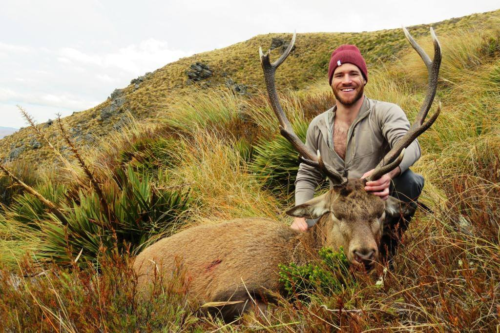 Abram with his stag, great photo from Josh Cairns