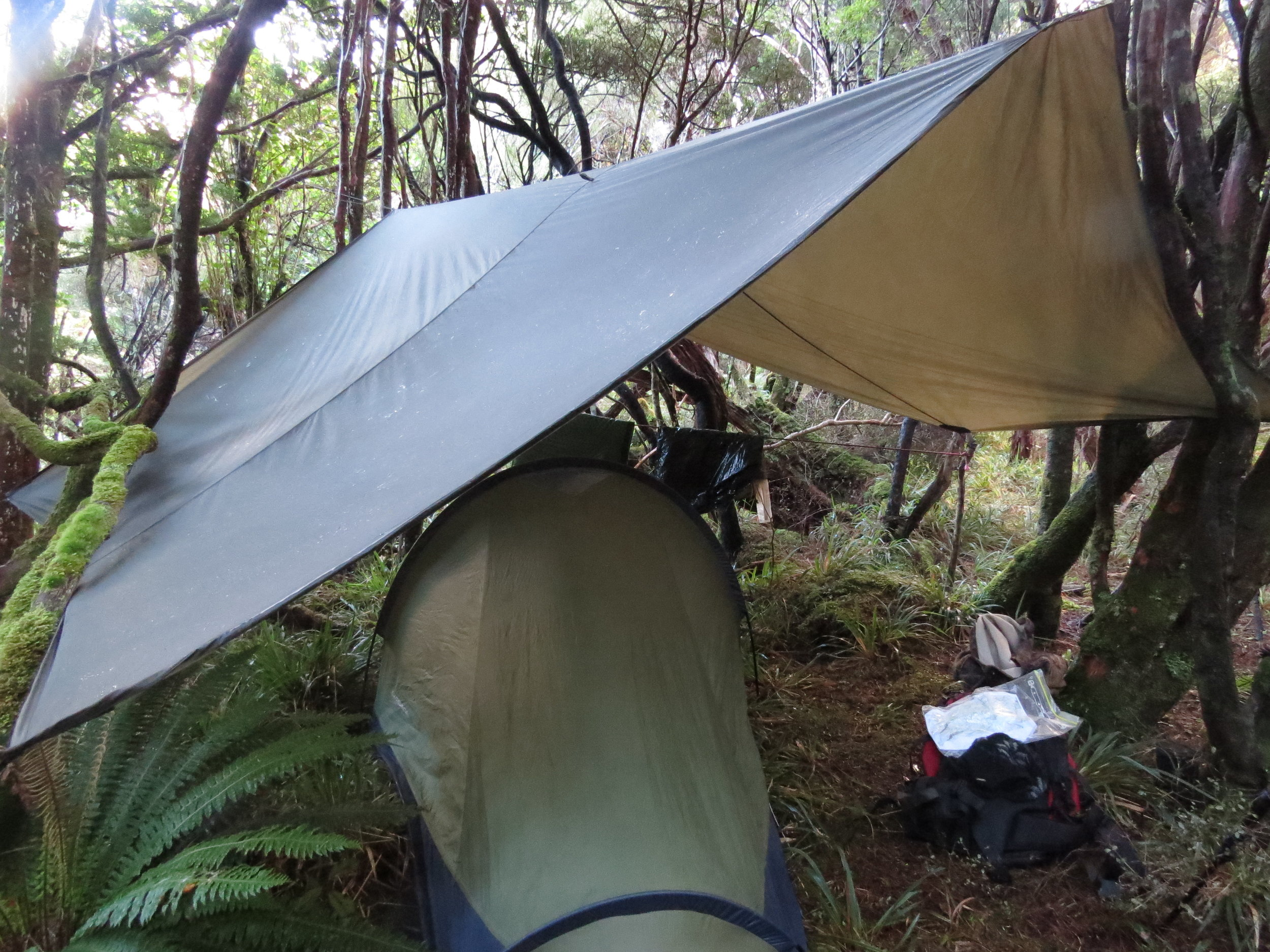 Back-pack hunting in winter on Stewart Island, rain and hail every day! Getting your gear dry for the next morning is crucial to keeping you keen and interested in careful stalking, otherwise its just survival and no deer!