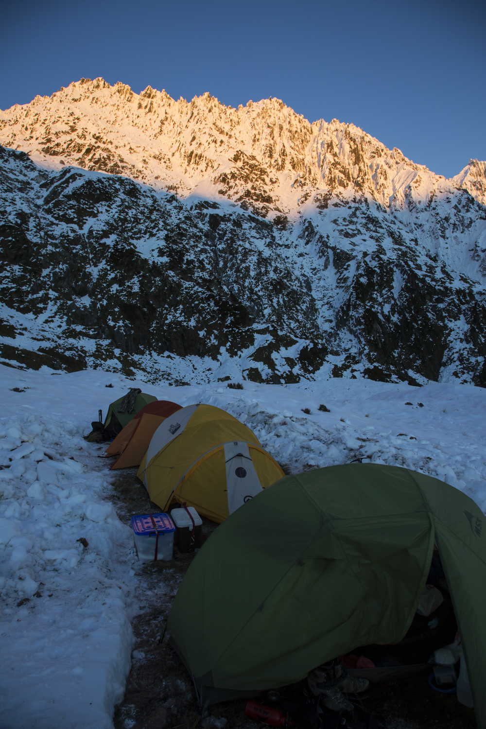 By using the right equipment and understanding the snowpack, we managed to take a bull from just below the skyline.