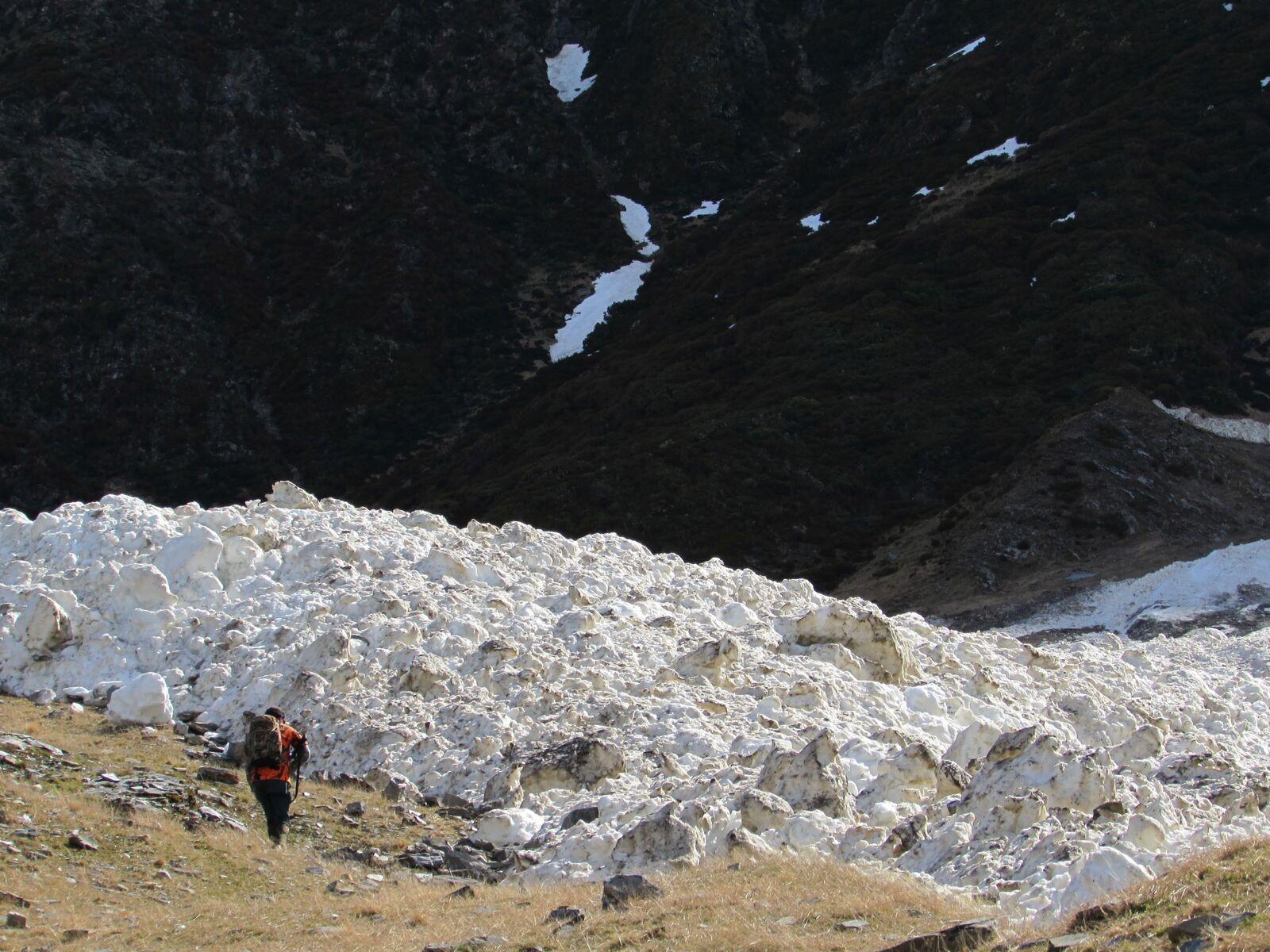Avalanche debris - image @ R Wells