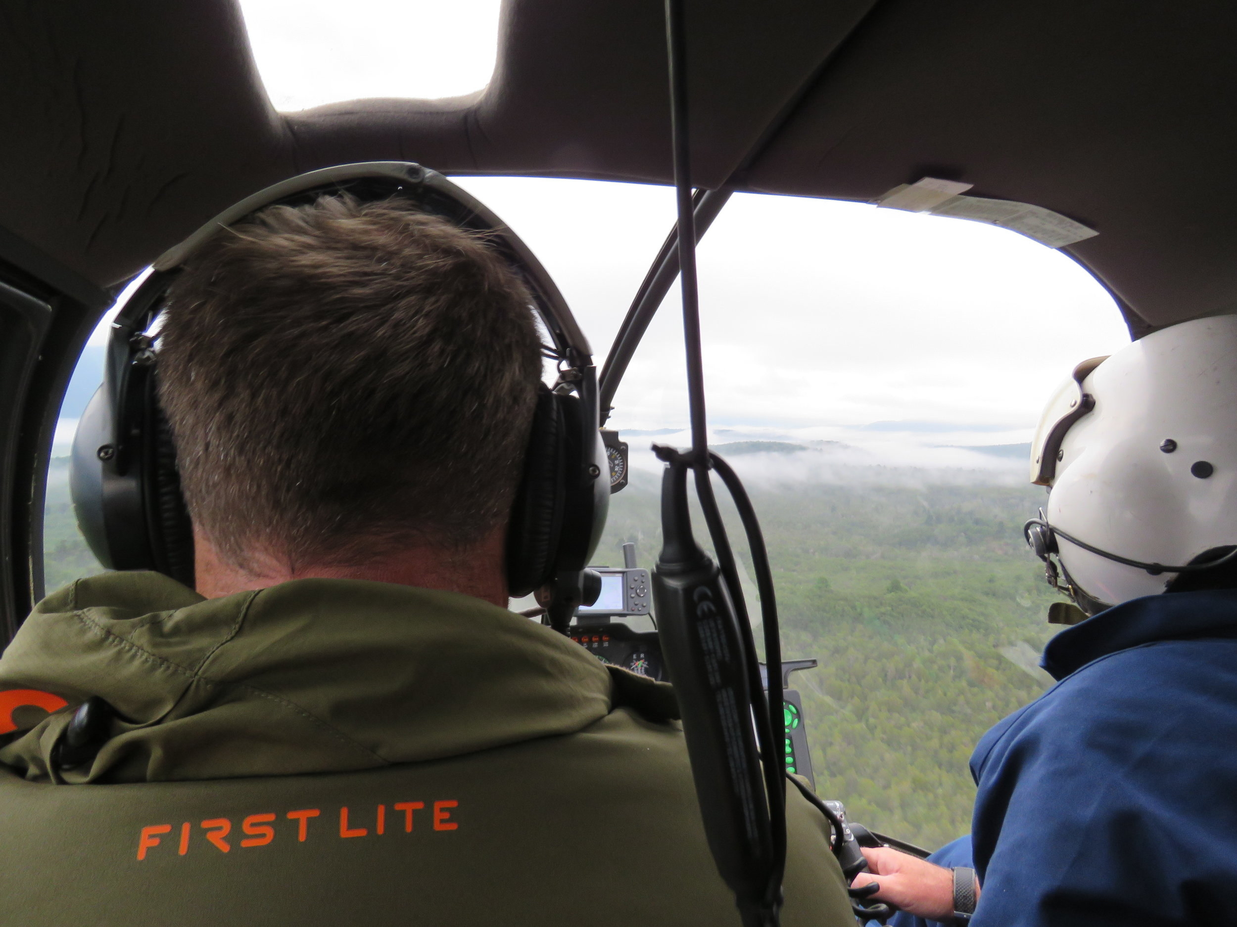 Flying in with  Ahaura Helicopters  first lite