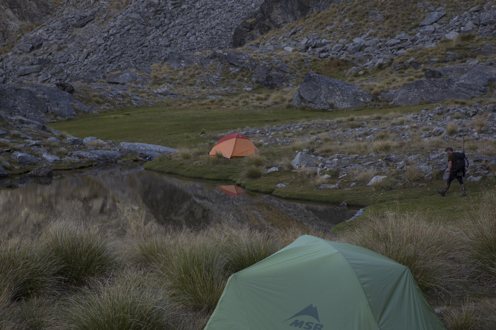 Camp at 1600m