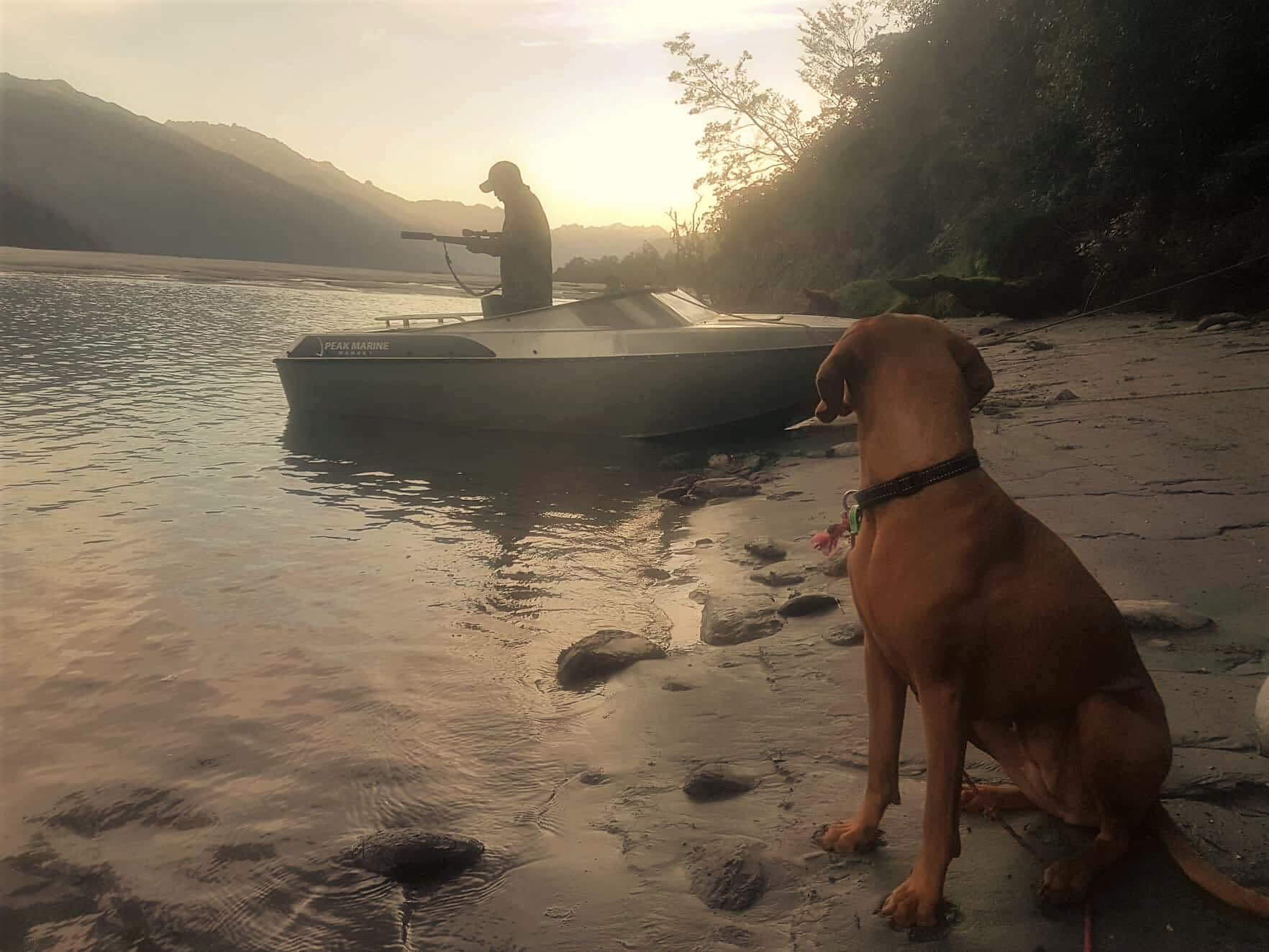 Summer meat hunting with a jetboat - image @Amy Louise