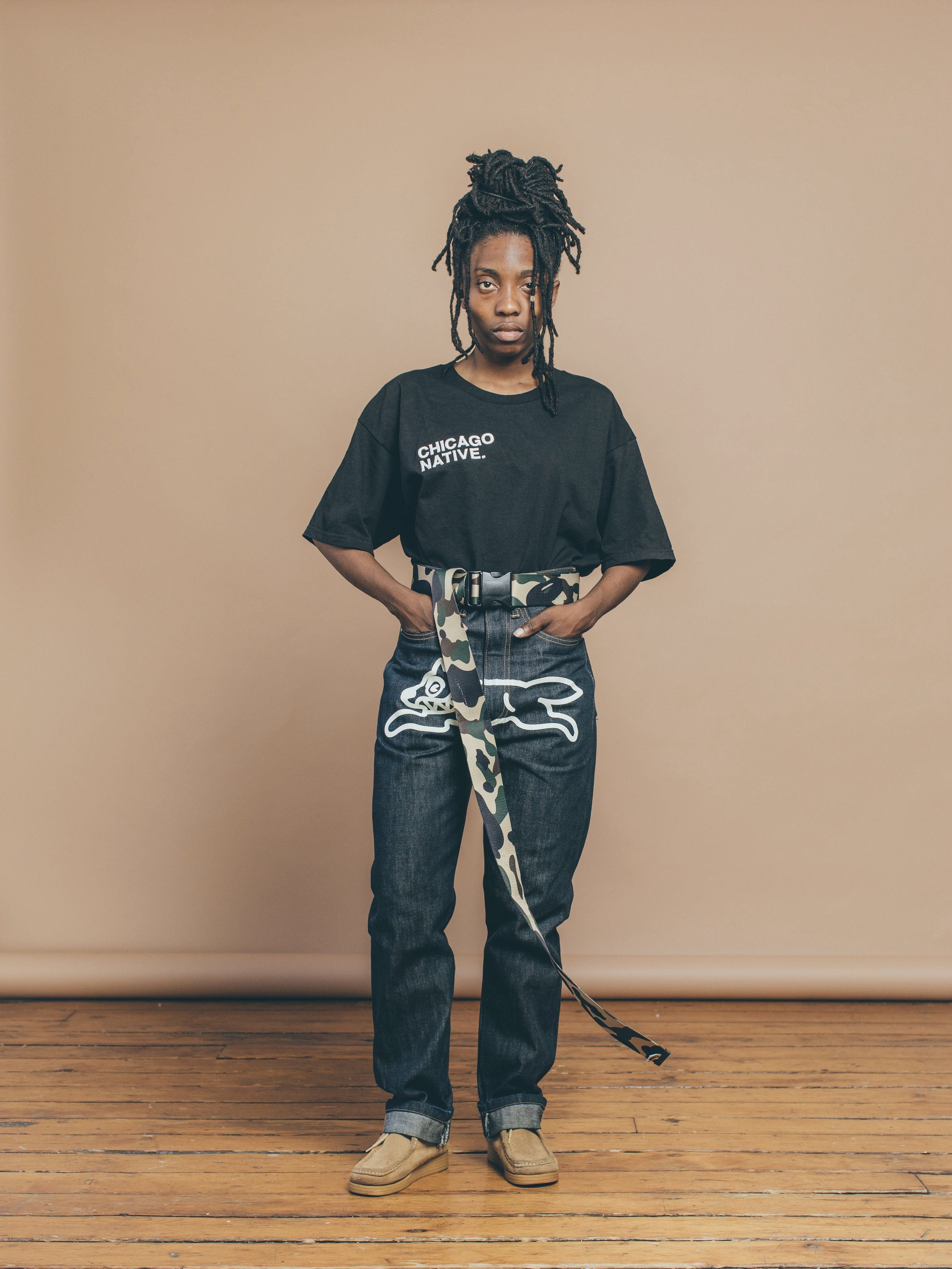 Ameera Chicago Native Embroidered Tee Limited Edition Collection - Native Society - Juan Riesco Image2.jpg