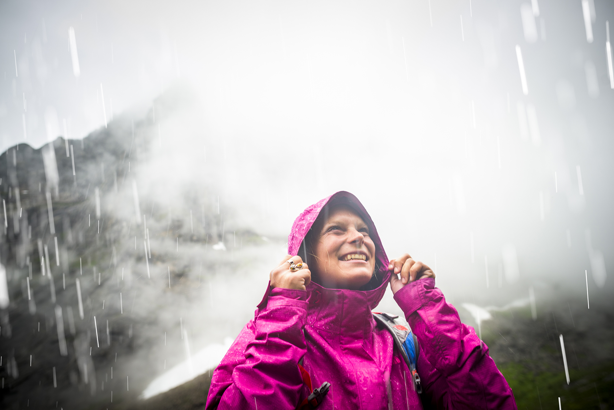 Angel Collinson. The North Face Spring 2016 Rainwear. Lofoten, Norway. Photography by Tim Kemple.