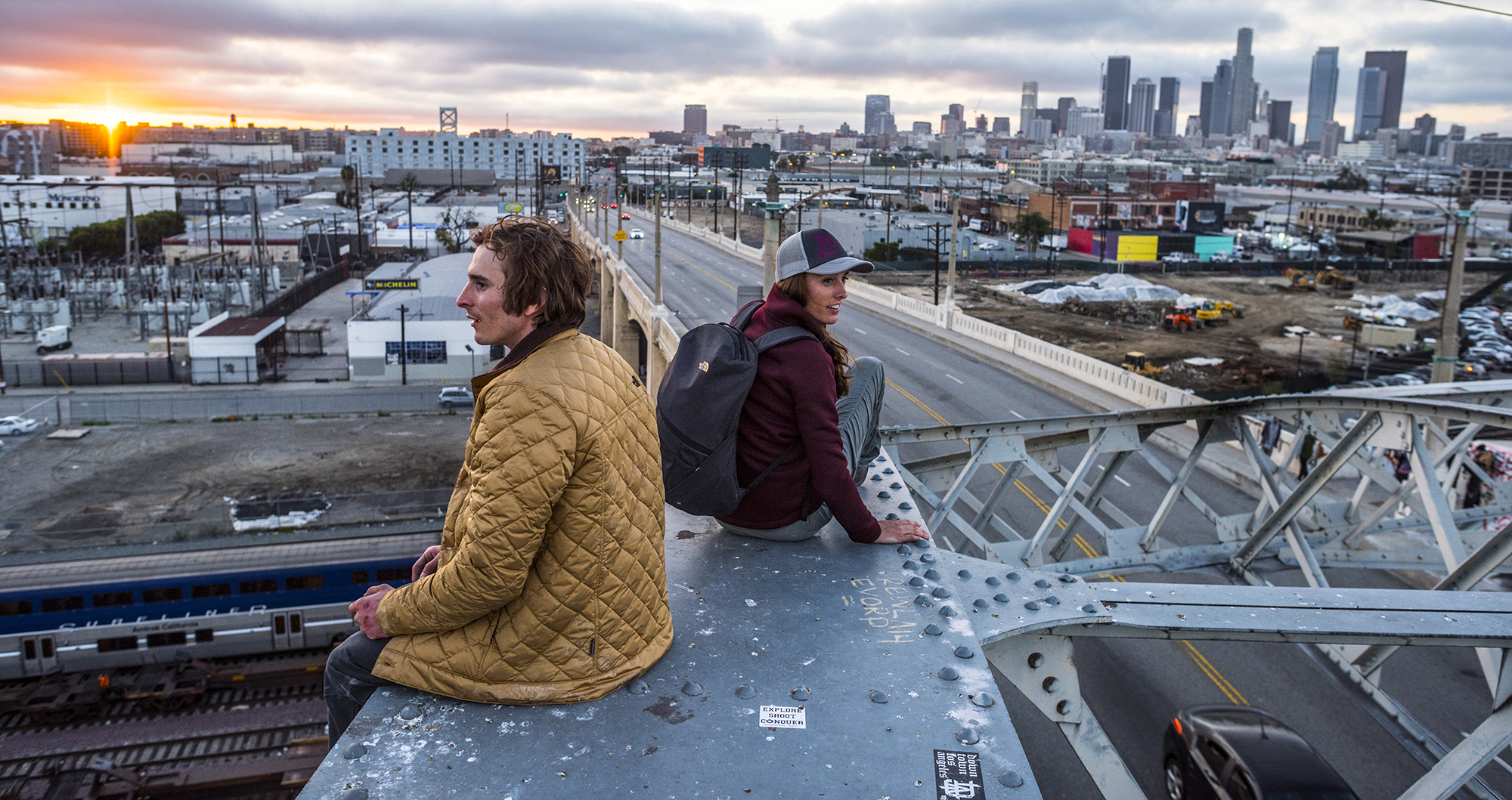 Daniel Woods and Alex Johnson. Los Angeles, California. Photography by Tim Kemple.