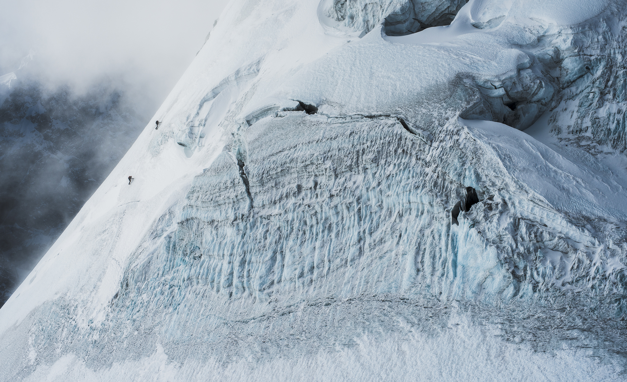 Conrad Anker and Renan Ozturk. Langtang, Nepal. Photography by Tim Kemple.