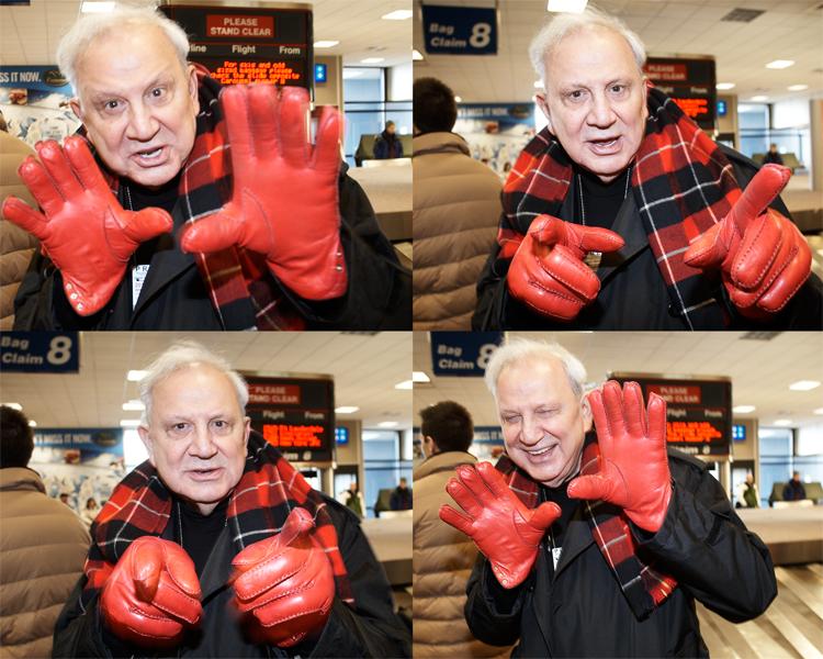Ron Galella, subject of Smash His Camera at the Salt Lake City Airport, 2010.