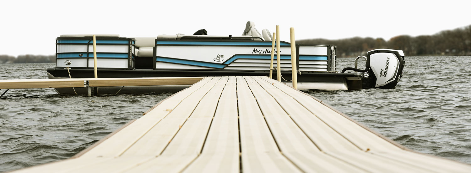 Excellence is the standard at Misty Harbor . Taking the extra step to make sure excellence is brought to bear in design, material, construction, and each part of our business means Misty Harbor pontoons will continually progress to every customer's delight.     Proudly Built in the USA.