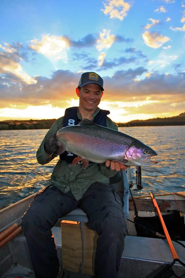 A lovely 9.5lb rainbow hen, caught by Kyle Adams.