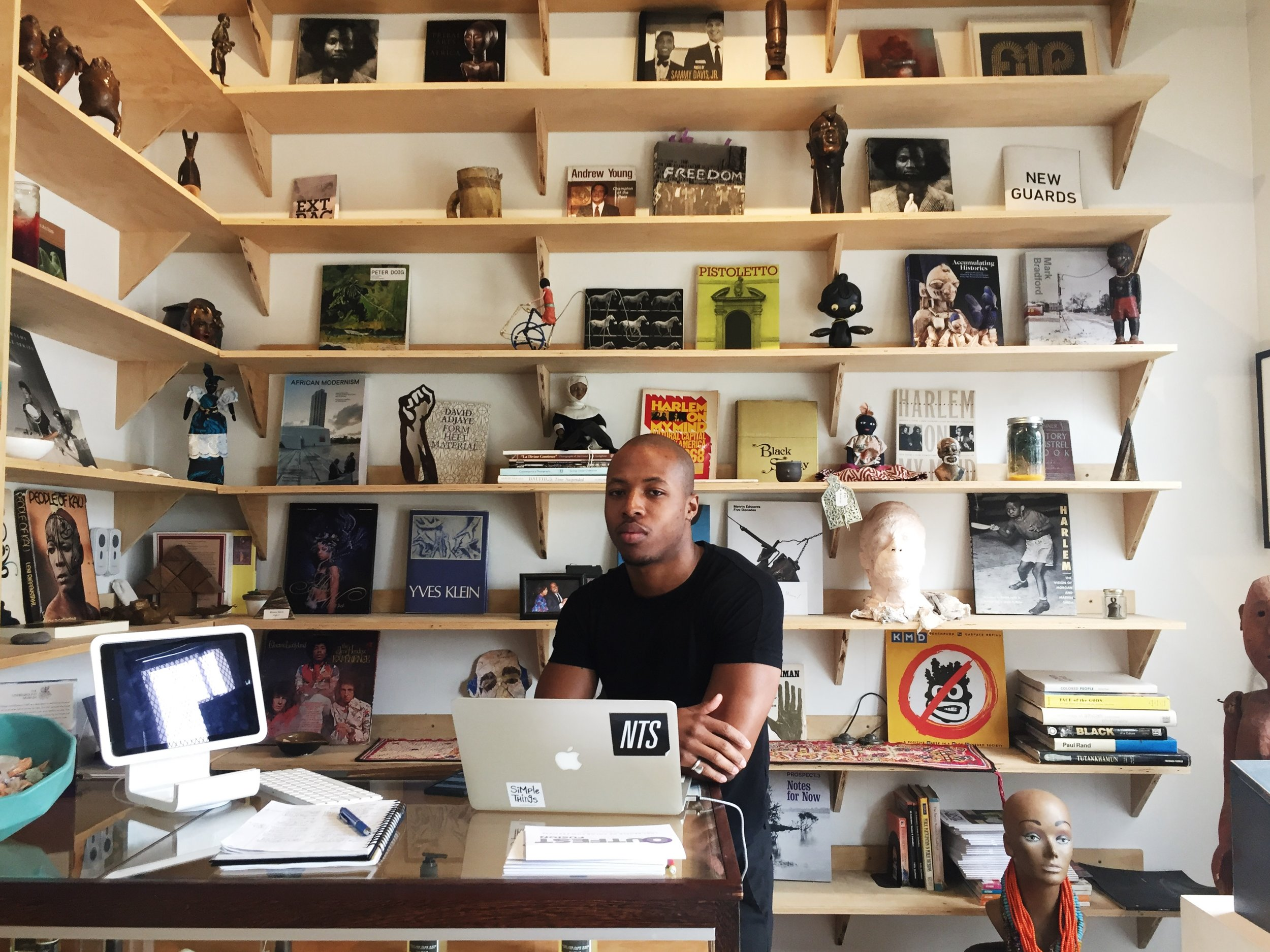 Justen LeRoy,  22, is the Underground Museum liaison whose one of many jobs is to make sure that there is a platform for younger artists.