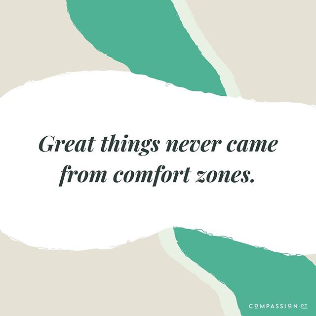Sometimes it takes stepping out of our comfort zones to experience new creativity, get some new ideas, and gain fresh perspective. Often, it's where the greatest risk happens and where the biggest dreams come to life!