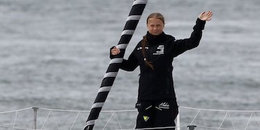 Greta Thunberg sets sail for the US for UN Climate Week